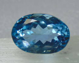 11.50cts MARVELOUS  NATURAL ELONGATED blue TOPAZ