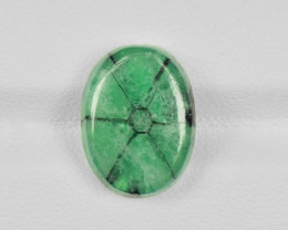 Trapiche Emerald, 7.00ct - Mined in Colombia | Certified by IGI