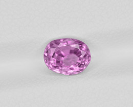 Pink Sapphire, 1.58ct - Mined in Sri Lanka | Certified by IGI