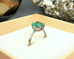 1,48ct Colombian Emerald 18k Solid Gold Ring ref. 59/76 Colombian Emerald N