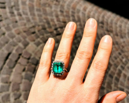 5,91ct Natural Colombian Emerald18k Solid Gold Ring Colombian Natural Eme