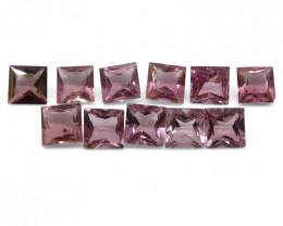 11.52 ct Pink Tourmaline Square Wholesale Lot