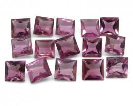 13.94 ct Pink Tourmaline Square Wholesale Lot