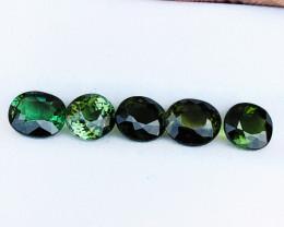 4.95 Ct Natural Greenish Transparent Tourmaline Gemstones Parcel