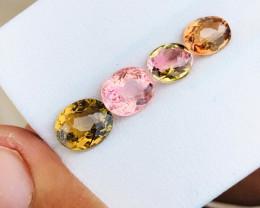 3.45 Ct Natural Pinkish Transparent Tourmaline Gemstones Parcels