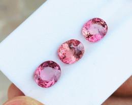 4.85 Ct Natural Pinkish Transparent Tourmaline Gemstones 3 Pieces