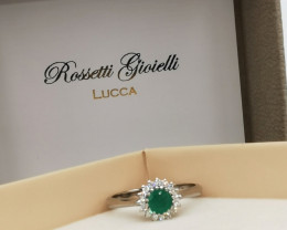 0,27ct Colombian Emeralds 18kSolid Gold Ring  Colombian Natural Emerald Col