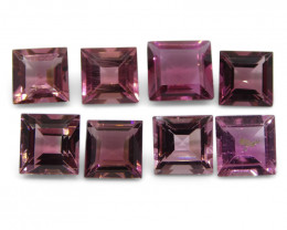 8.95 ct Pink Tourmaline Square Wholesale Lot