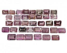 33.21 ct Pink Tourmaline Emerald Cut Wholesale Lot
