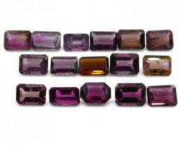 13.64 ct Pink Tourmaline Emerald Cut Wholesale Lot