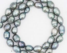 40 cm Fresh Water Pearl Stand Black Pearls GWE 2004 b