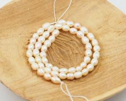 36 cm Fresh Water Pearl Stand Chanpagne  Pearls GWE 2003 b