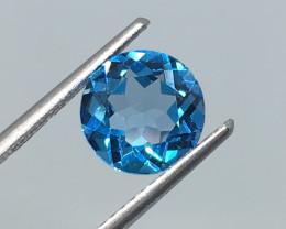 2.10 Carat VVS Topaz Electric Blue  Amazing Flash !