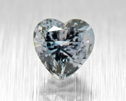 Unheated Sapphire Heart 0.62ct well-cut, good brilliance (01547)