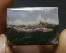 22.20 CT UNTREATED Beautiful Indonesian Moss Agate Picture