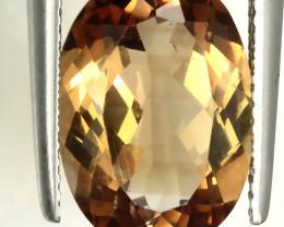 7.15ct Orange Bronze Topaz VVS  No reserve ~