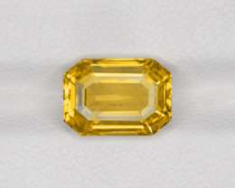 Yellow Sapphire, 4.97ct - Mined in Sri Lanka | Certified by GRS