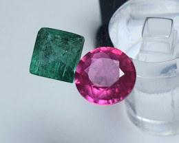 Beauty Clean  Natural Ruby and Emerald*