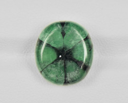 Trapiche Emerald, 10.19ct - Mined in Colombia | Certified by IGI