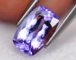 1.42Ct Natural VVS D Block Purplish Blue Tanzanite A2301