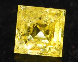 0.31Ct Fancy Yellow Princess Cut Natural Diamond A2307