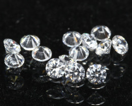 1.70mm D/F/VS 14Pcs Natural Round Brilliant Cut White Diamond