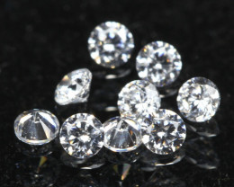 1.90mm D/F/VS 9Pcs Natural Round Brilliant Cut White Diamond