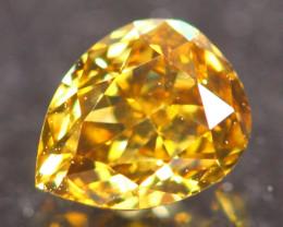 0.43Ct Fancy VVS Intense Yellow Natural Diamond A2703