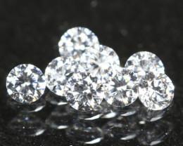 1.30mm DEF Color VS 8Pcs Natural Round Brilliant Cut White Diamond