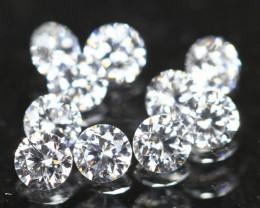 1.20mm 10Pcs D/F/VS Natural Round Brilliant Cut White Diamond