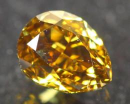 0.40Ct Fancy Vivid Yellow Natural Diamond B2707