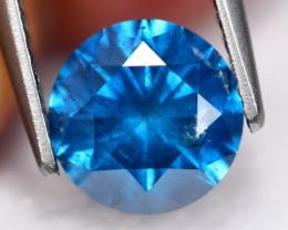 1.72Ct Fancy Vivid Titanic Blue Natural Diamond B2901