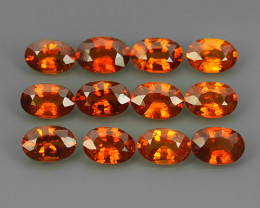 6.20 CTS OUTSTANDING!OVAL FACET RED-NATURAL SPESSARTITE GARNET!!