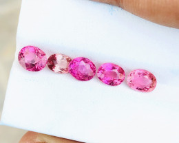 4.35 Ct Natural Pinkish Transparent Tourmaline Gemstones Parcels