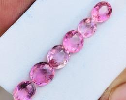 6.30 Ct Natural Pinkish  Transparent Tourmaline Gemstones