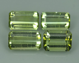 7.00 CTS ALLURING NEON GREEN PARTY COLOR TOURMALINE OCTAGON GEM!!