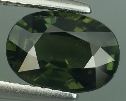 2.40 CTS EXCEPTIONAL NATURAL GREEN SAPPHIRE OVAL MADAGASCAR!!