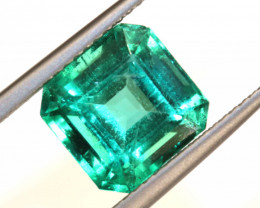 3.65CTS NATURAL GREEN COLOMBIAN EMERALD S001