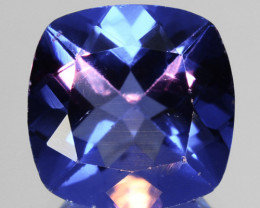 5.29 Cts Natural Color Change Fluorite 10 mm Cushion Cut Afghanistan