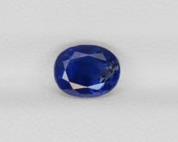 Blue Sapphire, 1.58ct - Mined in Burma   Certified by GRS