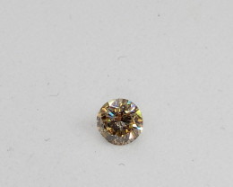 0.165ct Light Brown  Diamond , 100% Natural Untreated
