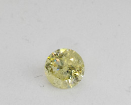 0.80ct Fancy Yellow  Diamond , 100% Natural Untreated