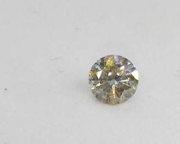 0.505ct Light greenish Yellow  Diamond , 100% Natural Untreated