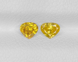 Pair of Fancy Color Diamonds, 0.32ct - Mined in South Africa |Certified IGI