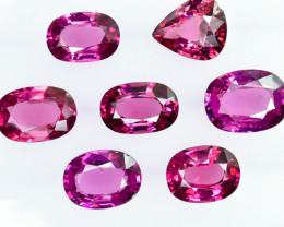 12.10 Crt Natural Rhodolite Garnet Faceted Gemstone Lot 3