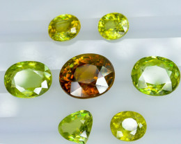9.15 Crt Natural  Sphene Faceted Gemstone Lot 1