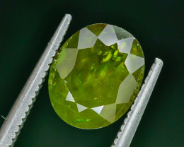3.05 Crt Natural Chrome Sphene Faceted Gemstone