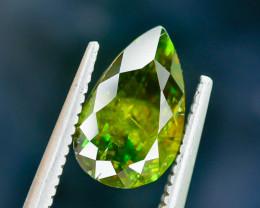 2.30 Crt Natural Chrome Sphene Faceted Gemstone