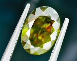 2.80 Crt Natural Chrome Sphene Faceted Gemstone