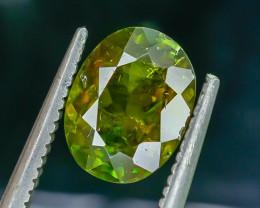 1.90 Crt Natural Chrome Sphene Faceted Gemstone